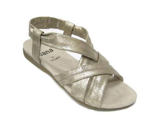 Damskie sandały Jana, kolor platynowy