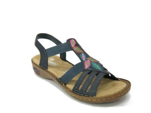 Damskie sandały Rieker, kolor niebieski