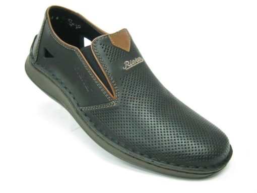 Męskie buty Rieker , kolor czarny