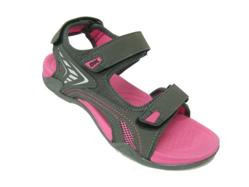 Sandały DK Kolor ciemno szary