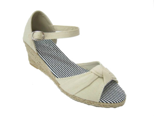 Letnie buty damskie, kolor beżowy