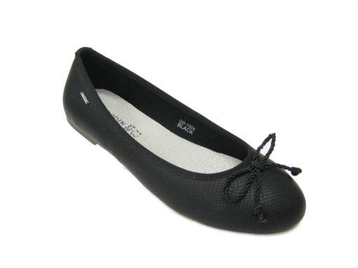 Baleriny damskie, kolor czarny